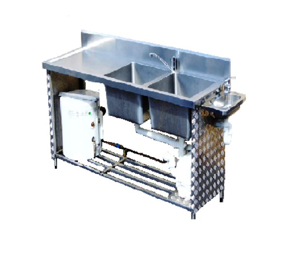 Twin Sink with Hot Water