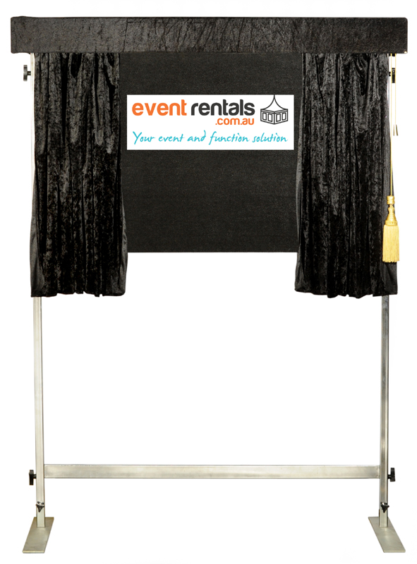 Unveiling Curtain - Black